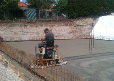 Glätten Bodenplatte Keller